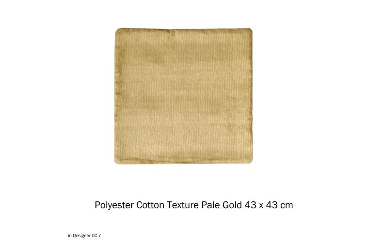 Polyester Cotton Texture Cushion Cover Pale Gold