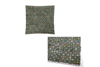 Lora Applicate Flowers Grey Cushion Cover