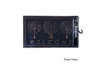 Rubber Door Mat Three Trees