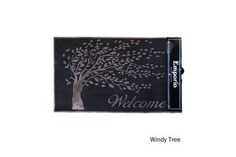 Rubber Door Mat Windy Tree