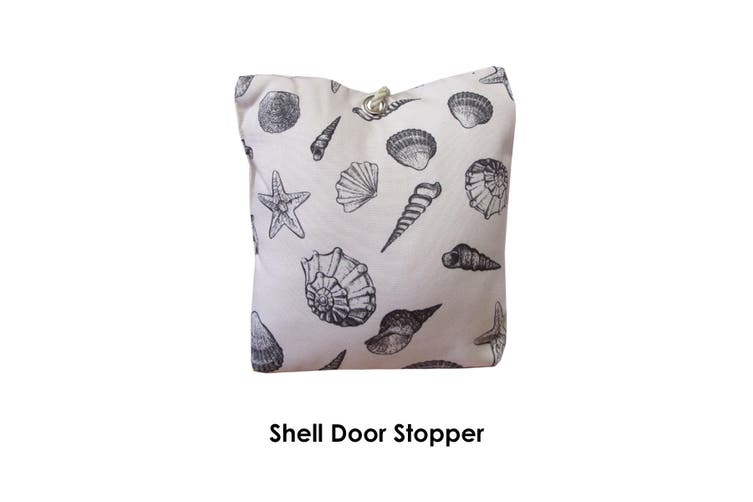 Print Big Fabric Door Stopper Doorstop Home Decor Shell Matt Blatt