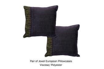 Pair of Oriental Style European Pillowcases Jewel
