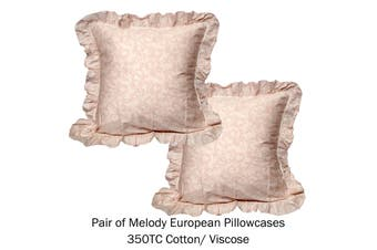Pair of Tailored European Pillowcases Melody