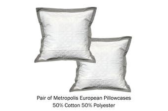 Pair of Tailored European Pillowcases Metropolis