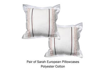 Pair of Tailored European Pillowcases Sarah