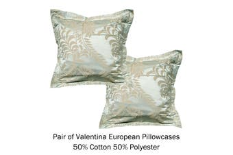 Pair of Tailored European Pillowcases Valentina