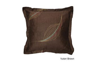 One Piece of Cotton European Pillowcase Vuton Brown