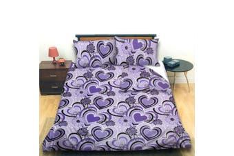 Fancy U Violet Quilt Cover Set Queen