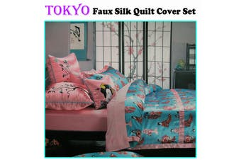 Tokyo Faux Silk Quilt Cover Set KING