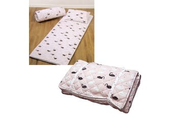 Swan Blush Lightly Quilted Sleeping Bag Set