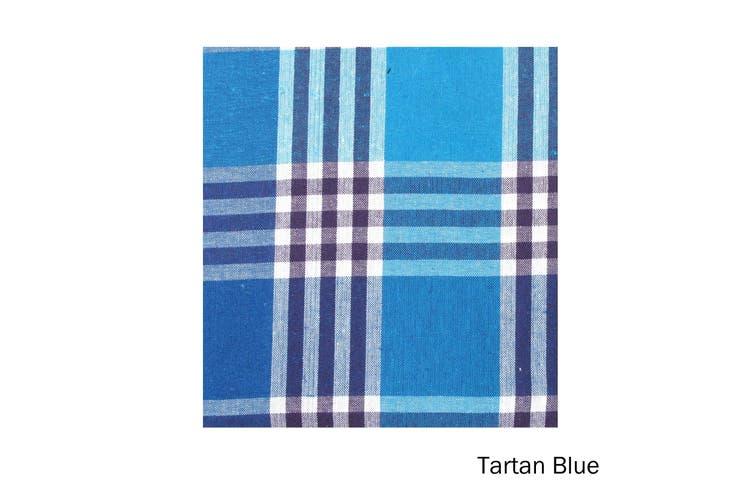 Check Table Cloth Tartan Blue 180 cm Diameter Round