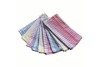 Set of 9 Checkered Cotton Tea Towels
