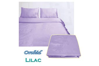 Orchid Satin Embroidery Quilt Cover Set Lilac Double