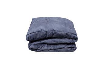 Down Alternative Super Soft Micro Plush Blanket Steel Blue Queen 220 x 240 cm