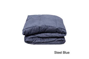 Micro Plush Blanket Steel Blue Single