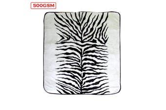 Mink Blanket Zebra Queen
