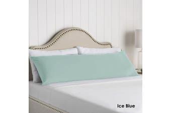 100% Cotton Body Pillowcase Ice Blue by Artex