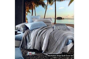 Manhattan 100% Cotton Quilt Cover Set - Double