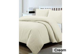 Regal Quilted Quilt Cover Set Cream Queen