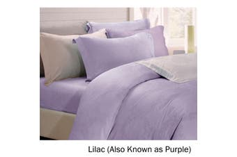 6 Piece Tencel Jacquard Bed Set Damask Lilac (Also Known as Purple) King