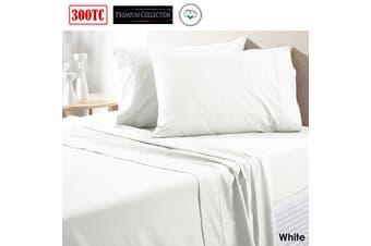 300TC Pure Cotton Sheet Set King White