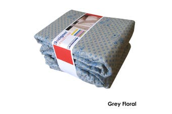Cotton Flannelette Sheet Set King Floral Grey