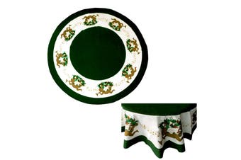 Angel Christmas Round Table Cloth 136 cm Diameter