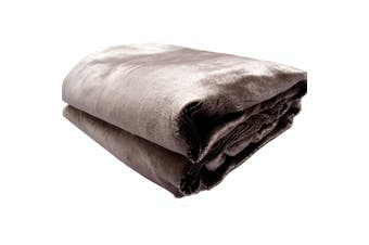 Luxury Faux Furt Animal Throw 127x152 cm Chocolate Seal