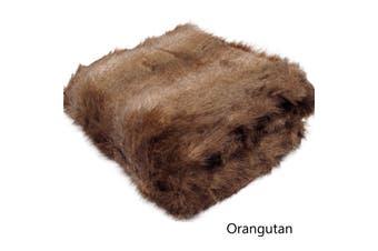 Luxury Long Hair Faux Fur Animal Throw Orangutan by Artex