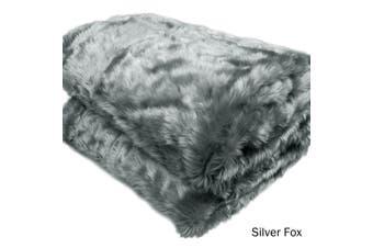 Luxury Faux Fur Animal Throw Silver Fox by Artex