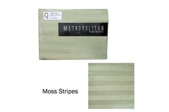Moss Stripes Quilt Cover Set Queen by Metropolitan