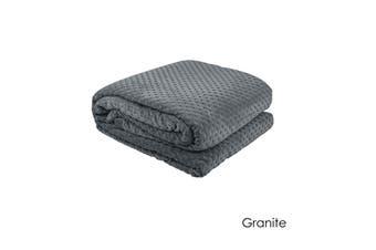 Commercial Quality Hotel Deluxe 400gsm Polar Fleece Blanket Granite by Bambury