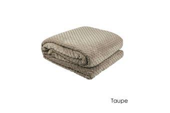 Hotel Deluxe Polar Fleece Blanket Taupe Queen/King