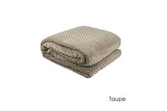 Commercial Quality Hotel Deluxe 400gsm Polar Fleece Taupe by Bambury