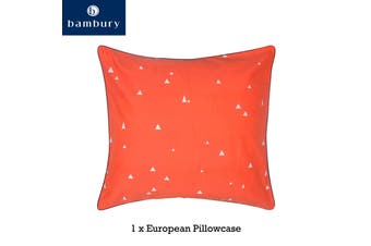 One Montauk European Pillowcase by Bambury
