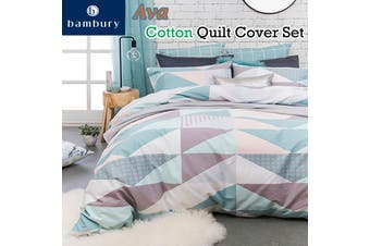 Ava Cotton Quilt Cover Set by Bambury
