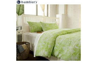 Delphine Pine Lime Quilt Cover Set King