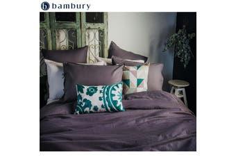 Purple Dusk Linen Cotton Quilt Cover Set by Bambury
