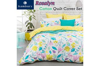 Rosalyn Cotton Quilt Cover Set by Bambury
