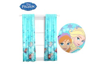 Pair of Frozen Concealed Tab Top Curtains by Disney
