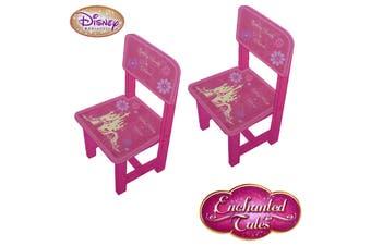 Pair of Disney Princess Enchanted Tales Wooden Chairs