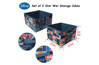 Kids Cartoon Set of 2 Star War Storage Cubes
