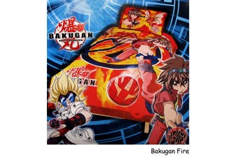 Bakugan Fire Quilt Cover Set Single