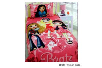 Bratz Fashion Girls Quilt Cover Set Single