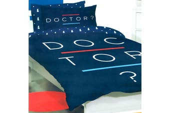 Doctor Who Quilt Cover Set Double