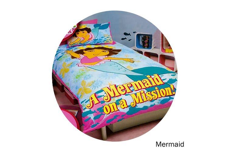 Dora The Explorer Quilt Cover Set Mermaid Single by Disney by Disney