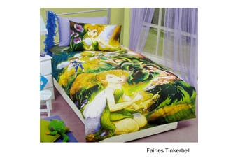 Fairies Tinkerbell Quilt Cover Set Double