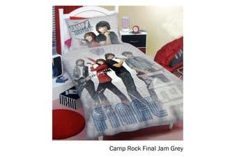 Camp Rock Final Jam Grey Quilt Cover Set Single by Disney