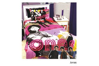Jonas Quilt Cover Set Single by Disney