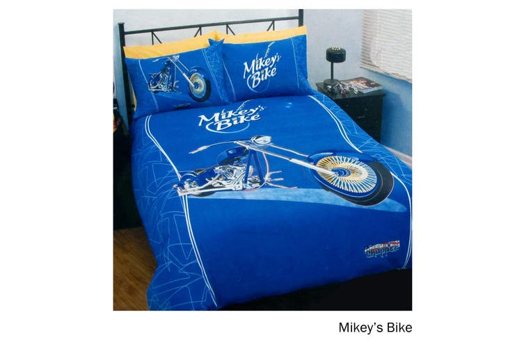 Mikey's Bike Quilt Cover Set Single